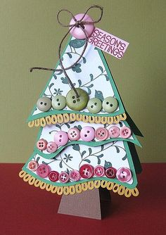 Loopy Buttons Tree Tag by Paper Girl, via Flickr