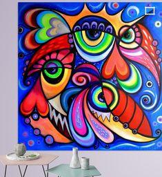 Nieuw in mijn Werk aan de Muur shop: Op het nest Bright Colors Art, Chalk Pastel Art, Modern Pop Art, Picasso Art, Eye Art, Cubism, Art Journal Inspiration, Graffiti Art, African Art