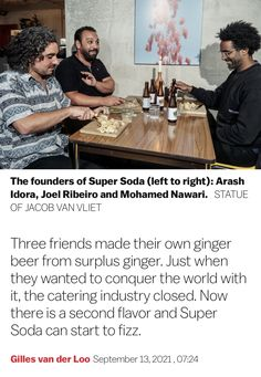 Three Friends, Ginger Beer, Amsterdam, Catering, News, Kitchen, Cooking, Catering Business, Gastronomia