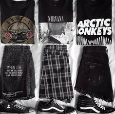 Discovered by Elgort ♡. Find images and videos about fashion, black and moda on We Heart It - the app to get lost in what you love. Grunge Outfits, Edgy Outfits, Mode Outfits, Cute Casual Outfits, Grunge Fashion, Summer Outfits, Fashion Outfits, Rock Fashion, Hipster Outfits