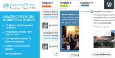 AccessPress Twitter Feed Pro . AccessPress has features such as High Resolution: Yes, Compatible Browsers: IE10, IE11, Firefox, Safari, Opera, Chrome, Software Version: WordPress 4.5, WordPress 4.4.2, WordPress 4.4.1, WordPress 4.4, WordPress 4.3.1, WordPress 4.3, WordPress 4.2, WordPress 4.1, WordPress 4.0, WordPress 3.9, WordPress 3.8