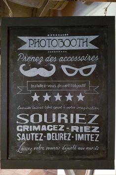 Gris Aquarelle Lumières choisir un accessoire photobooth Personnalisé Mariage Signe