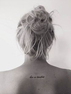 tattoos with meaning, lux in tenebris tattoo
