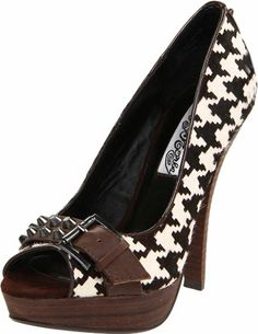 Amazon.com: Naughty Monkey Women's Slam Dunk Open-Toe Pump: Naughty Monkey: Shoes