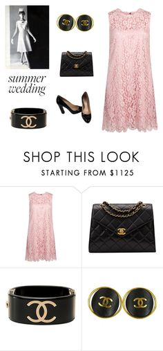 """""""Vintage Wedding (contest)"""" by scolab ❤ liked on Polyvore featuring Dolce&Gabbana, Chanel, Miu Miu and vintage"""