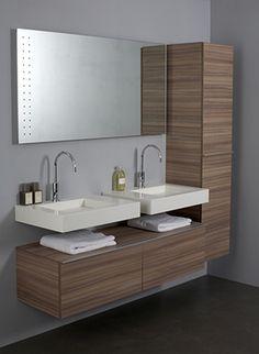 Giquadro - badkamer wasbak, wasbakken badkamer Bathroom Design Luxury, Bathroom Interior, Modern Bathroom, Dressing Room Design, Trendy Furniture, Bathroom Storage, Bathroom Vanities, Sinks, Interior Decorating