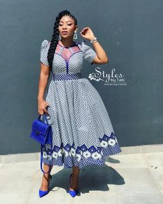 TOP 2019 STYLES, Choosing Ankara dress to wear to a corporate event or casual outing is dependent on the style of the dress. For instance, you won't want to sho African Bridesmaid Dresses, African Maxi Dresses, Ankara Dress Styles, Latest African Fashion Dresses, African Attire, Sotho Traditional Dresses, South African Traditional Dresses, Traditional Outfits, Seshweshwe Dresses