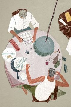 Masako Kubo  'The Outsider' inside illustration