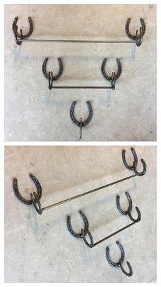Welded Horseshoe Art Bathroom Towel Racks Or Kitchen Holder