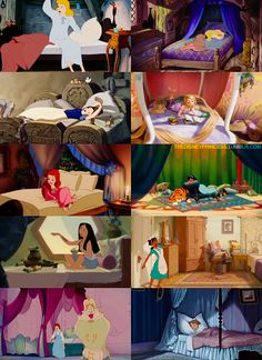 the disney princess bedrooms, Belle, Ariel, and Rapunzel are my favorites!!!! I also like Jasmine's though