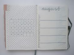 Bullet Journal August Setup | Monthly Spread