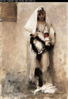 John Singer Sargent    A beggarly girl