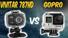 Filmadora Vivitar 787 HD Vs Gopro ✱ Excelente câmera de ação para esportes