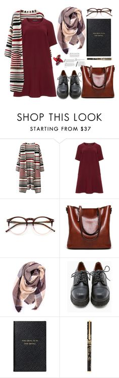 """Winter Dresses."" by arwitaa ❤ liked on Polyvore featuring Manon Baptiste, Wildfox, Everest, Sixtyseven, Smythson and S.T. Dupont"