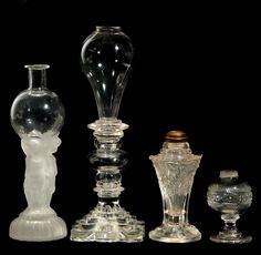 Lot: THREE ANTIQUE WHALE OIL LAMPS, Lot Number: 0305, Starting Bid: $100, Auctioneer: Dirk Soulis Auctions, Auction: The Pat Bockelman Trust Estate Auction, Date: February 4th, 2017 EST