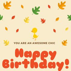 Chirp out your wishes to your #birthday girl with this cool, trendy #ecard #happybirthday #free #cards #greetings #wishes.
