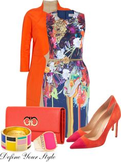 """""""Popping With Color"""" by defineyourstyle ❤ liked on Polyvore"""