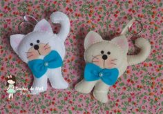 Sonhos de Mel 'ੴ - Crafts em feltro e tecido: gatinha em feltro
