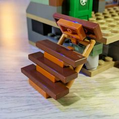 I ❤️ this stair technique so much. Lego Minecraft, Lego Lego, Lego Batman, Minecraft Skins, Minecraft Buildings, Lego Ninjago, Lego Design, Lego Burg, Lego Mandalorian
