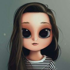 Ideas Digital Art Girl Portraits Character Design For 2019 Cute Girl Drawing, Cartoon Girl Drawing, Cartoon Drawings, Cartoon Art, Drawing Girls, Cartoon Ideas, Drawing Eyes, Drawing Hair, Kawaii Drawings