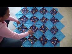 "Flannel Rag Quilts Tutorial, Part 4 of 4: Making the Quilts ""Bloom"""