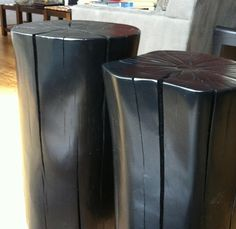Dark Tree Stumps Handmade Furniture - http://amzn.to/2iwpdj4