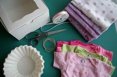 Little Birdie Secrets: baby onesie cupcake tutorial {and a sweet giveaway}