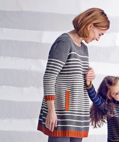 Knitting For Kids, Free Knitting, Knitting Projects, Jumper Dress, Knit Dress, Joko, Stripes Design, Knit Crochet, Knitting Patterns