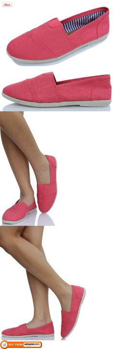 Womens Canvas Slip-on Flats Coral Soda Object 75. Just ordered these they look fun for summer :).