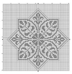 Octogonal 10 | Free chart for cross-stitch, filet crochet | Chart for pattern - Gráfico