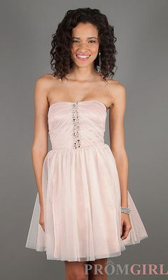 Short Strapless Semi-Formal Dress by Jump 307