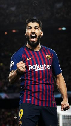 Luis Suarez of Barcelona celebrates after he scores his sides first goal during the UEFA Champions League Semi Final first leg match between Barcelona and Liverpool at the Nou Camp on May 2019 in. Get premium, high resolution news photos at Getty Images Fc Barcelona, Barcelona Players, Barcelona Football, Barcelona Futbol Club, Liverpool Uefa Champions League, Champions League Semi Finals, Football Photos, Football Boys, Soccer Sports