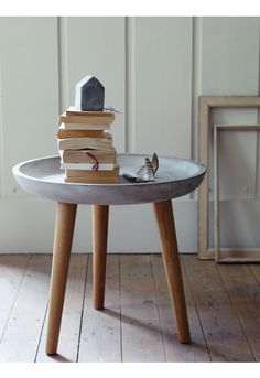 Concrete Topped Side Table - Furniture