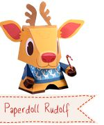 FREE foldable paper Christmas Critters. Santa, Rudolf, Elf and more.  (Just click on picture to download it's pdf.)