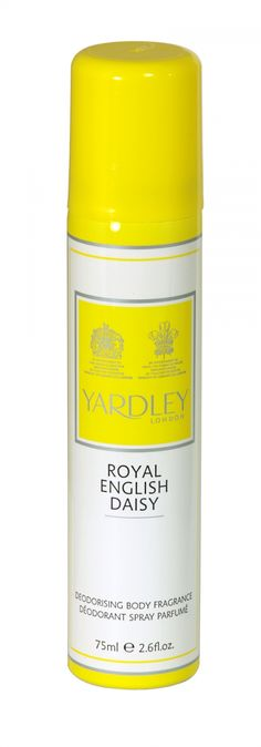 Yardley deodorising body fragrance 75ml royal english daisy