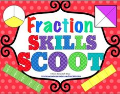 Fraction Scoot Bundle - Your students will have a blast working with fractions with this  Fraction Scoot game! Scoot is a fast paced, whole class game that is simple to make and LOTS of fun! $