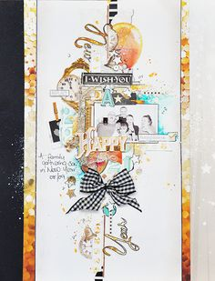 Happy New Year by Emma Trout using Webster's Pages 'All That Glitters'. #scrapbook #websterspages