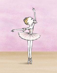 #Princess Aurora Ballerina Illustration, Ballerina Sketch, Princess Illustration, Character Illustration, Illustration Art, Ballet Studio, Ballet Art, Dance Images, Dance Pictures