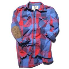 Elbow patch flannel