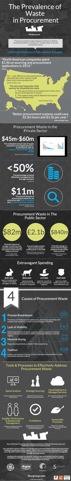 The Prevalence of Waste in Procurement infographic.   For more infographics: http://owl.li/XO8vZ