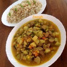 مشكلة خضار بنكهة هندية بطريقة الشيف Zeinab Barakat -   #تطبيق_طبخي #طبخ #طبخات #أطباق #وصفات