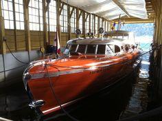 THUNDERBIRD 1939 55 Huskins Boat Works Hacker Craft 1100 Hp Ea