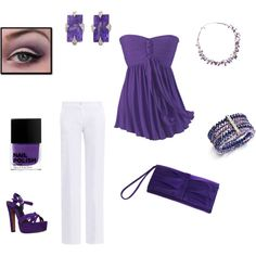 """""""Purple!"""" by heather767 on Polyvore"""