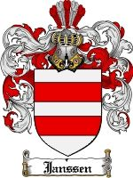 Janssen Coat of Arms / Janssen Family Crest  This Danish, Dutch, Norwegian, Swiss and German surname of JANSSEN was a baptismal name meaning...