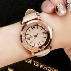 2019 New ladies watch Rhinestone Leather Bracelet Wristwatch Women Fashion Watches Ladies Alloy Analog Quartz reloj hombre Sport Watches, Watches For Men, Cheap Watches, Popular Watches, Stylish Watches, Fine Watches, Wrist Watches, Leather Watch Bands, Seiko Watches