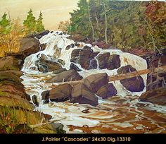 Orginal oil painting on canevas by Jacques Poirier #jacquespoirier #artist #canadianartist #quebecartist #art #fineart #figurativeart #originalpainting #oilpainting #forestscene #waterfalls #balcondart #multiart
