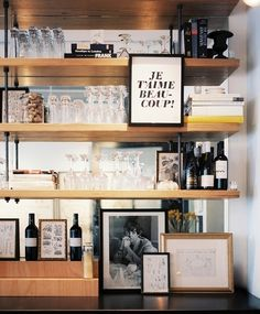 Love this look... great shelving idea to help with storage
