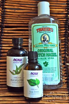 Ingredients for the Natural Hand Sanitizer using Essential Oils