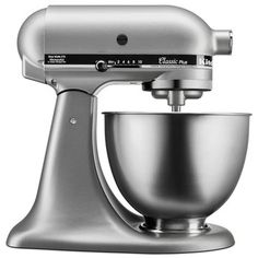 Find KitchenAid Classic Plus Tilt-Head Stand Mixer, Silver online. Shop the latest collection of KitchenAid Classic Plus Tilt-Head Stand Mixer, Silver from the popular stores - all in one Kitchenaid Artisan, Kitchenaid Stand Mixer, Kitchenaid Classic Plus, Kitchen Countertops, Kitchen Appliances, Small Appliances, Kitchens, Kitchen Backsplash, Kitchen Dining