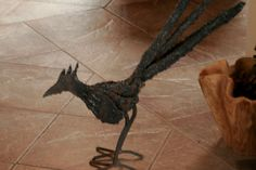 metal sculpture roadrunner by MartisMetalsCreation on Etsy, $225.00